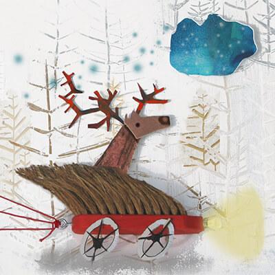 christmas card design by angeles nieto