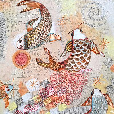 Magazine illustration by Angeles Nieto