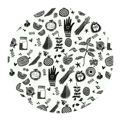 Pattern illustration design by Angeles Nieto