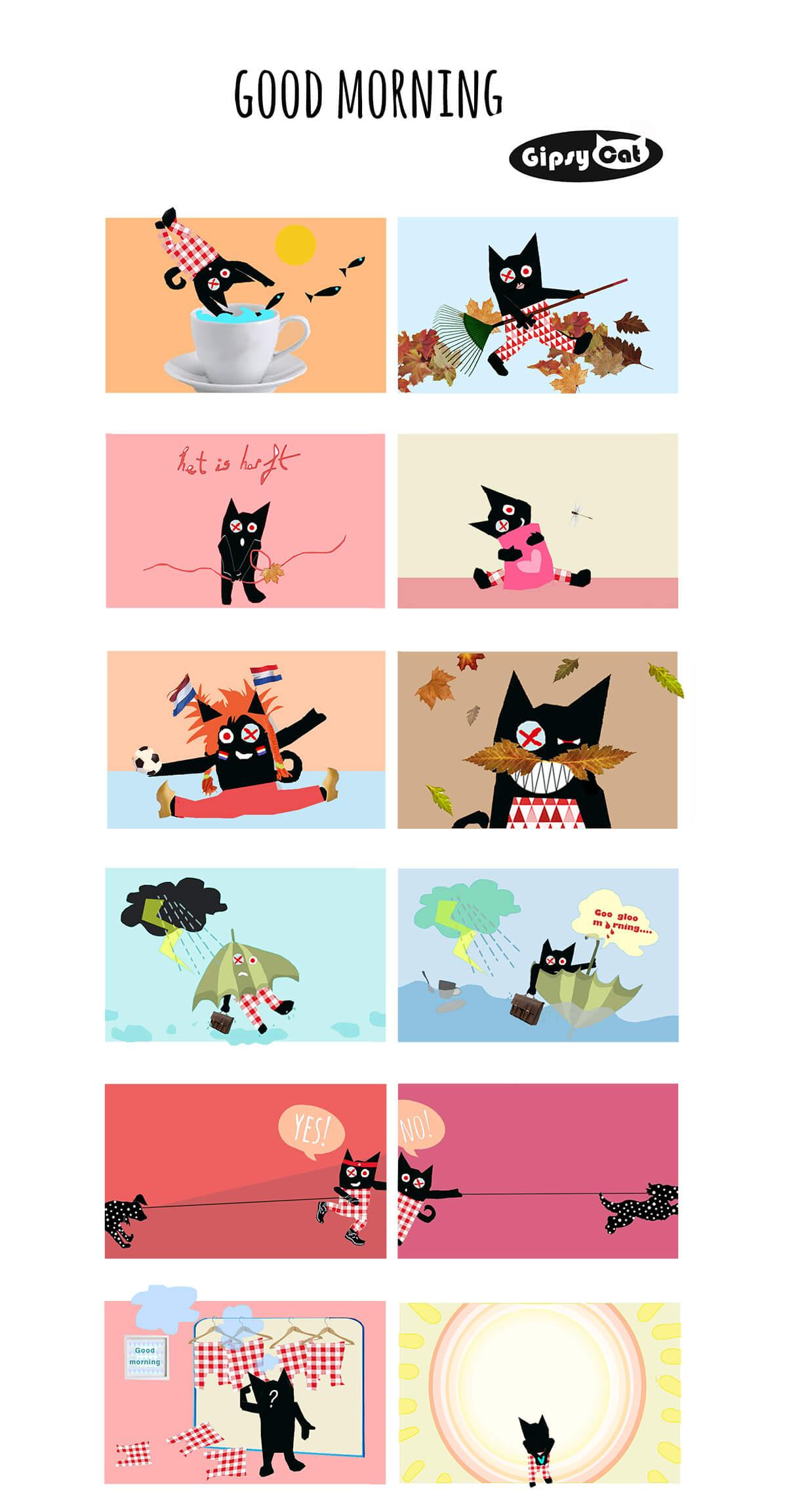 Good morning illustrations by Angeles Nieto